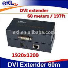 DVI extension 60m, DVI extender 60 meters over CAT5E