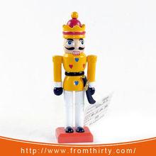 5inch wooden figurine nutcracker with sword