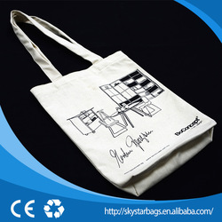 Cheap customized white cotton drawstring bags for promotion or shopping