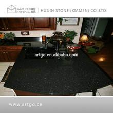 Black star galaxy granite countertop