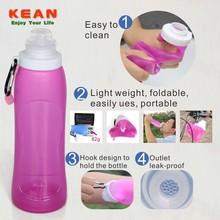 Soft BPA Free Silicone Bowling Pin Water Bottles