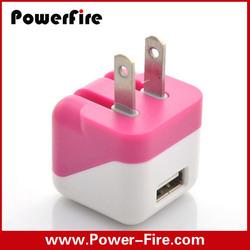 For mobile phone US EU UK portable folding plug usb charger