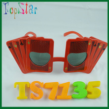 2015 Hot Sale Novelty Poker Party Sunglasses For Hen Party