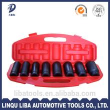 China Wholesale Manufacturer Auto tools 8pcs 3/4 inch Impact Socket Set
