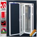 china produto avaliado do fogo de alumínio vidro interior portas sanfonadas
