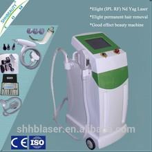 Factory supplier Multi-functional hair removal E-light IPL rf nd yag laser machine