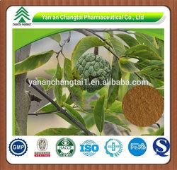 100% Pure Graviola Fruit Extract Powder 4:1 Soursop Powder Extract