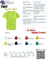 Custom Logo Design Screen Printing Blank Sport Dry fit T-Shirt
