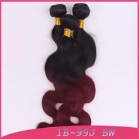 """hair buns clip cheap purple wigs human hair blend 1B 99J Body wave 12""""12""""12""""12"""""""