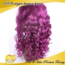 100% brazilian human hair wigs for black women full lace purple human hair wigs