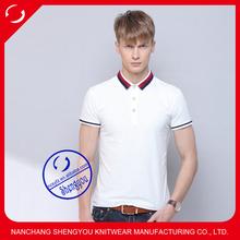 custom cotton plain dyed mens t-shirts polo wholesale china