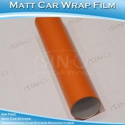 B3309 Matt 5*98FT Orange Colour Your Car Full Body Wrap Self Adhesive Vinyl