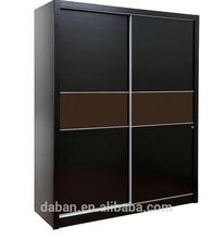 2 door wall mounted wardrobe with mirror/double wardrobe