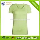 Womens Promotional V Neck Custom Sports Active T Shirt