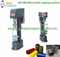 Factory Price Semi Automatic Round Bottle Aluminium Caps Capper JGS-980 Wine Bottle Capping Machine