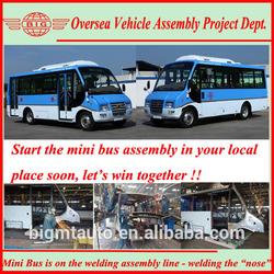 SKD CKD 6650 Diesel/CNG Mini School Bus Model for Sale