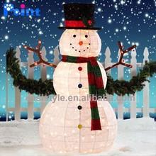 Christmas decoration LED light street motif 3D artificial snowman sculpture indoor snowman decoration
