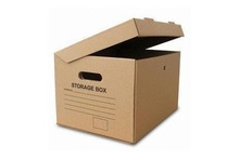High Quality Flip Brown Paper Corrugated Archive Storage Box