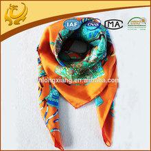 Digital Printed Wholesale New Twill Silk Scarves 90*90
