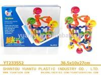 74pcs Plastic Marble Run Building Toy for preschool kids!