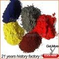 De colores pigmento de óxido de hierro rojo y ci77491 sintético óxido amarillo/negro/marrón/verde en polvo fórmula química