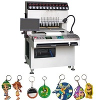 2015 High Precision 12 colors 8 programs Soft Rubber PVC Keychains making machine,keychain dispenser machine,keychain machine