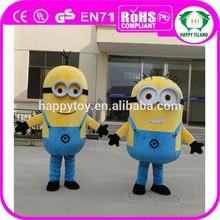 HI CE adult minion costume, movie character costume Minion,cartoon mascot