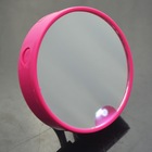 Plastic round promotional pocket mirror led