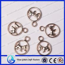 18MM zinc alloy animal dog pendants