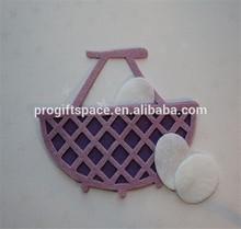 2015 kalıp kesme lavanta ve mor fötr hasır tarzı sepeti yumurta dekorasyon çin yapılan