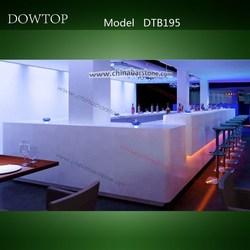 Restaurant & Coffee Shop & Nightclub Led Light bar counters for sale