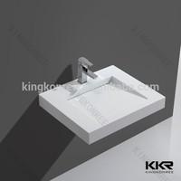 Gel coat resin stone bathroom sinks vanities , vanity top basin