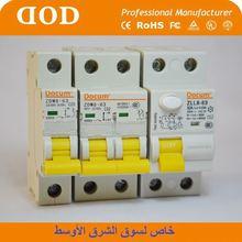DRNL MCB 32A 50A electrical circuit breaker 1p+N 32Amp 4.5ka 6KA with CE 415v DOD electric circuit breaker