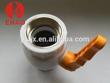 Good quality latest plastic ppr brass ball cock valve