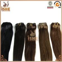 2015 Hot Sale Best Brazilian Straight Hair Bundle Cheap 100% Human Hair Clip on Hair Extension