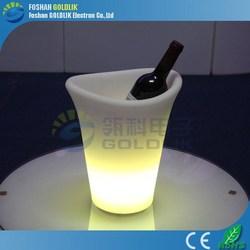 GLACS Control Illuminous Plastic LED Acrylic Ice Bucket Wholesale