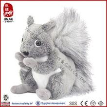 Factory Price ICTI SEDEX Stuffed Soft Animal Toy Plush Squirrel