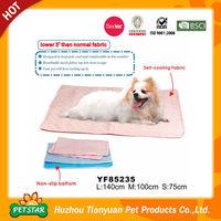 Self Cooling Fabric Beautiful Dog Cooling Bed Mat