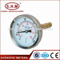 Hot water marine water heater thermometer