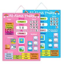 E1004 2015 new item kids learning educational magnetic calendar chart