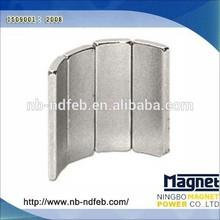 Segment Turbine Arc Ferrite Magnets For Wind Power Generator NdFeB Neodymium N35SH