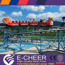 2014 New type funfair roller coasters kids rides slide dragon amusement 25*18m
