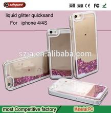 2015 popular quicksand phone case for Apple iPhone 5C