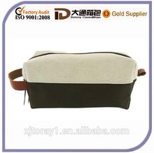 Natural Cotton Canvas Make up Pouch Shaving Bag Unisex Dopp Kit