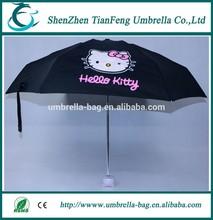 19 inche manual open cute holle kitty rain umbrella