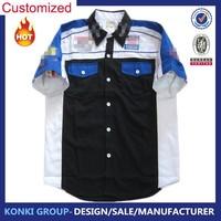Racing Team Pit Crew Shirts Wholesale Supplier Custom Made Race Shirts