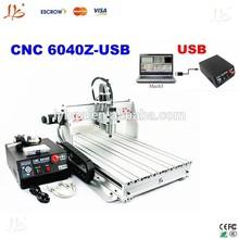 Newest!USB Port CNC router 6040Z-USB ,numerical control engraver,stone grinding machine