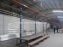 Automatic electrostatic powder coating system for aluminum profile