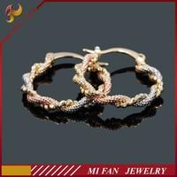 Brass jewelry 18K gold earring made in korea