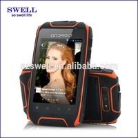 "ip57 mobile phone waterproof 3.5"" FWVGA IPS 960x640 android4.2 support EDGE,HSDPA,HSUPA MTK6572 H1"